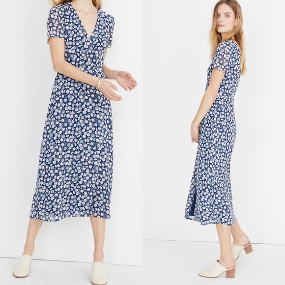 9aad36c4fcf Madewell Wrap-Front Midi Dress in French Floral